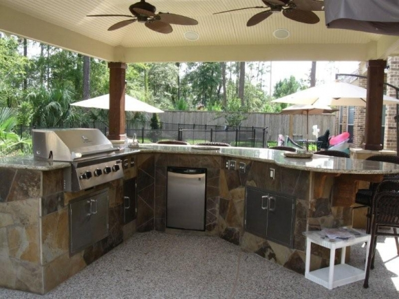 - Tropical outdoor kitchen designs ...