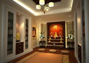 จัดห้องพระอย่างถูกวิธี พร้อมความโมเดิร์และความเป็นมงคลแก่บ้าน