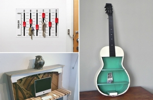 """""""โถชีวิตนักดนตรี"""" รวม 10 ไอเดียแต่งบ้านจากเครื่องดนตรีเก่าๆ ง่ายๆ คุณก็ทำได้"""