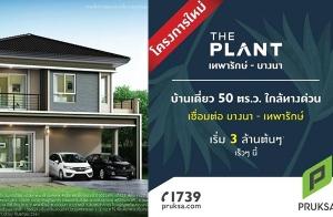 """""""THE PLANT เทพารักษ์-บางนา"""" บ้านเดี่ยว 50 ตร.ว. ทำเลใกล้ทางด่วน เชื่อต่อบางนา-เทพารักษ์ เริ่ม 3 ล้านต้น*"""