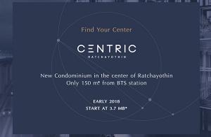 """CENTRIC Ratchayothin"" คอนโดใหม่ บนทำเลใจกลางรัชโยธิน เพียง 150 ม. จากรถไฟฟ้า เริ่ม 3.7 ล้าน*"