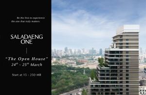 """ SALADAENG ONE "" คอนโดหนึ่งใน Limited Luxury Collection โดย SC Asset พร้อมมอบคุณค่าสุดเอ็กซ์คลูซีฟ  ในงาน ""The Open House"" 24-25 มี.ค.นี้"