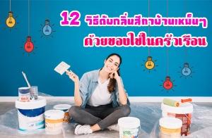 12 วิธีดับกลิ่นสีทาบ้าน ด้วยของใช้ในครัวเรือน