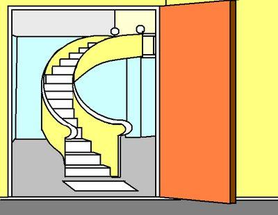 ประตูทางเข้าบ้านตรงกับบันได การเงินรั่วไหล รับซ้ายจ่ายขวา
