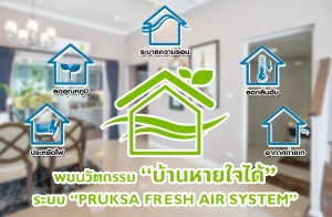"""นวัตกรรมใหม่ """"บ้านหายใจได้"""" ในระบบ Pruksa Fresh Air System เปลี่ยนบ้านร้อน ให้เป็นบ้านเย็นสบาย แถมประหยัดไฟได้อีกด้วย"""
