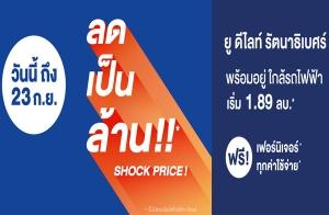 """แกรนด์ ยูนิตี้ จัดโปรฯ Shock Price ลดเป็นล้าน """"ยู ดีไลท์ รัตนาธิเบศร์"""" คอนโดพร้อมอยู่ ใกล้รถไฟฟ้า พร้อมฟรี !! ทุกค่าใช้จ่าย+เฟอร์นิเจอร์* วันนี้ - 23 ก.ย. นี้ เริ่ม 1.89 ล้าน*"""