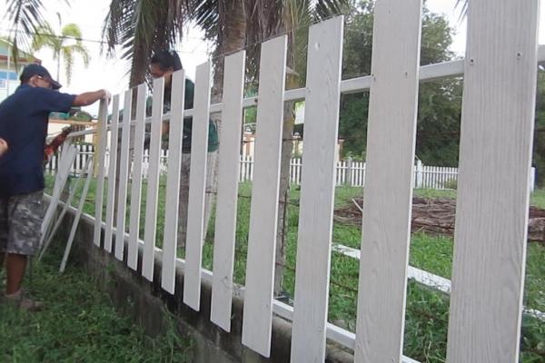ทำรั้วบ้านใหม่