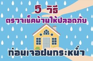 5 วิธีตรวจเช็คบ้านให้ปลอดภัยก่อนเจอฝนกระหน่ำ