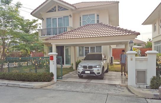 A5MG1224 ให้เช่าบ้านเดี่ยว 2 ชั้น 3 ห้องนอน 3 ห้องน้ำ พร้อมเฟอร์นิเจอร์ครบครัน.
