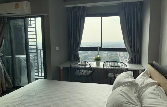(ให้เช่า) Ideo Sukhumvit 93 (ไอดีโอ สุขุมวิท 93) Studio 1 bathroom for Rent , Rental 18,000 baht/month area; 26 sq.m, on the 29th floor. ตึก A. * Bangna view * มีหลายยูนิตให้เลือก