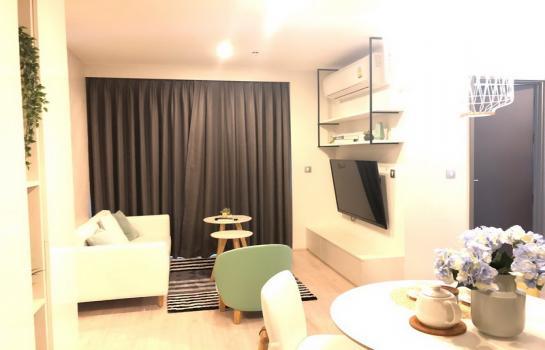 ให้เช่า Rhythm รางน้ำ 2 ห้องนอน 2 ห้องน้ำ ขนาด 56 ตารางเมตร ห้องมุม ตกแต่งสวยงาม ชั้น 17