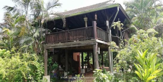 Teak wood house near ob khan national park hangdong chiangmai.