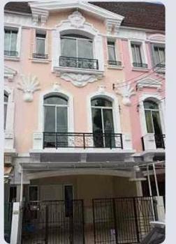ขายทาวน์เฮ้าส์ ห้วยขวาง7900000บาท ขายบ้านกลางเมือง แกรนด์ เดอ ปารีส   โฮมออฟฟิศ 3 ชั้นสไตล์ปารีส