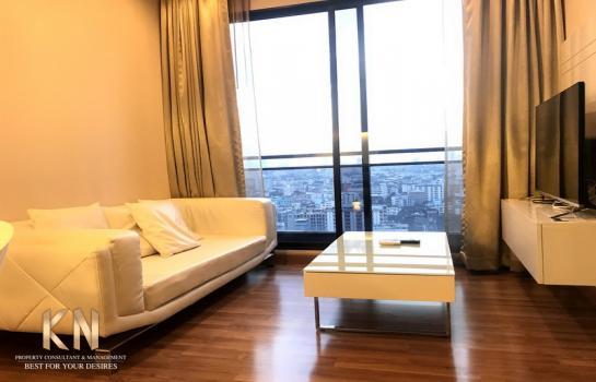Ivy ampio รัชดา ขาย คอนโดหรู กลางใจเมือง 1 ห้องนอน 1 ห้องน้ำ ขนาด 44 ตารางเมตร ชั้น 18 วิวเมือง เห็นสถานทูตจีน